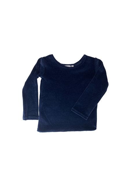 Unisex navy sweater, velvet / velvet