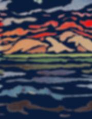 Rapport Mare e Monti blau80x155cm Kopie.