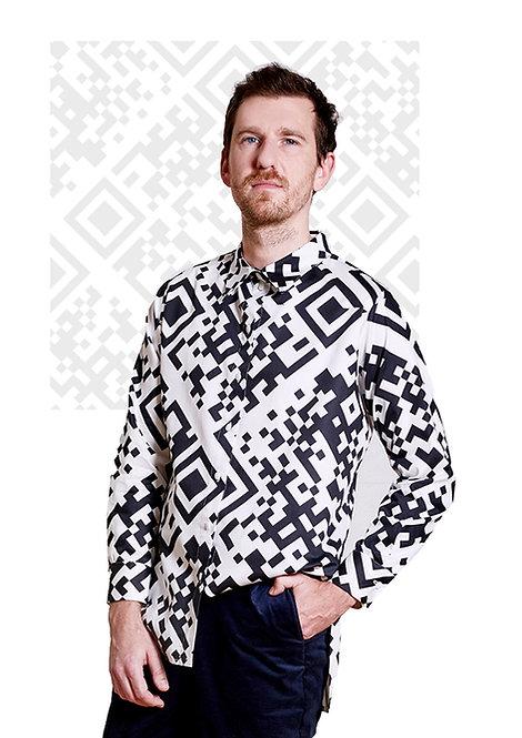 Unisex Shirt Lui, QR White
