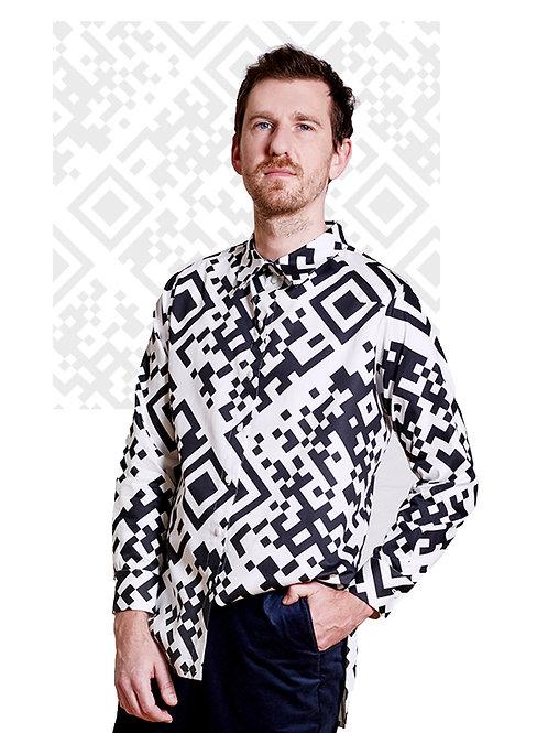 Unisex Shirt Lui, QR Weiß
