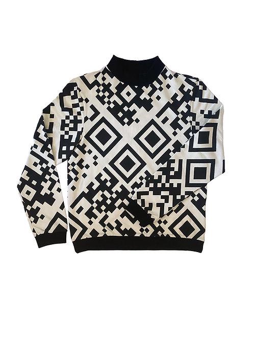 Unisex Sweater Jesse, QR White