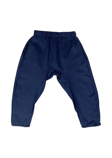 Satin blue, unisex pants