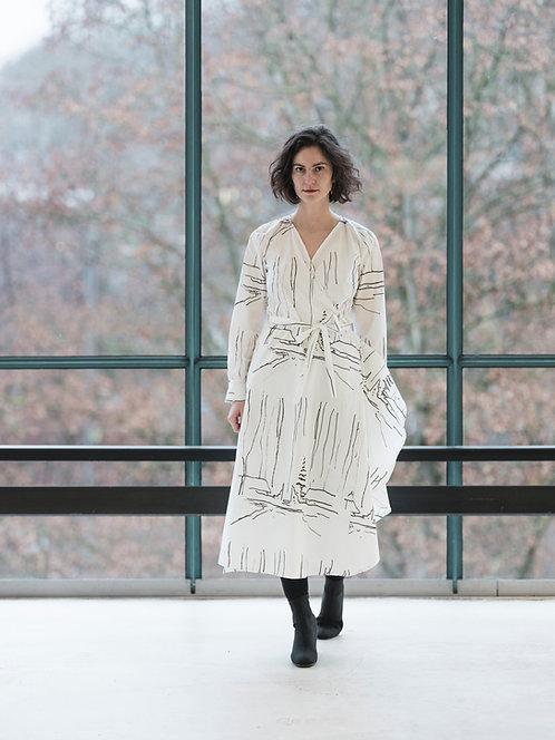 Wrap Dress Helena, Snow