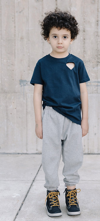 Kids unisex pants, gray