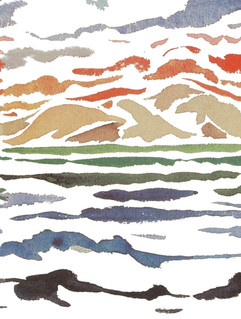 Print Mare e Monti White