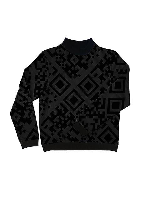 Unisex Sweater Jesse, QR Schwarz