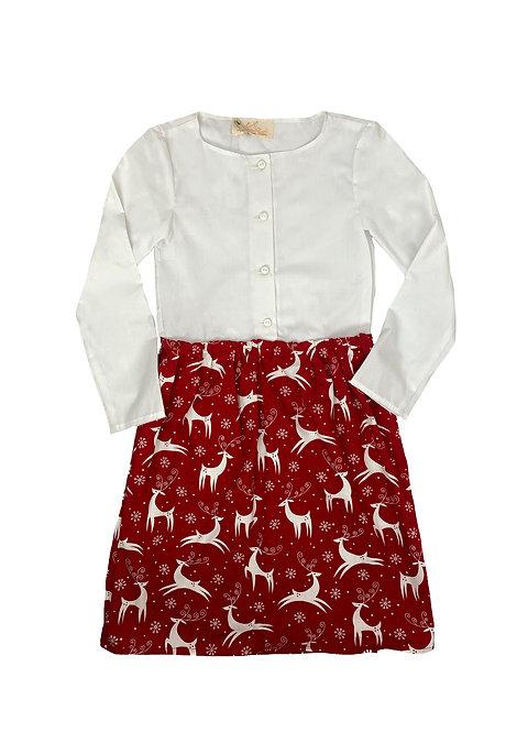 Shirt dress - dancing deer