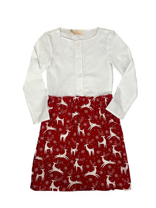 Hemdkleid - Tanzende Hirsche