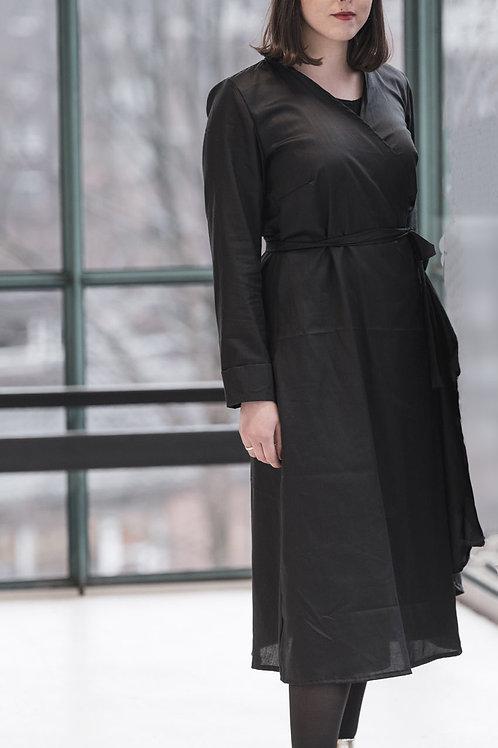 Wrap Dress Helena, Black