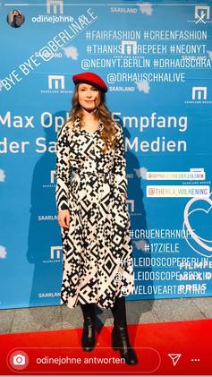 Odine Johne in QR Dress @Berlinale