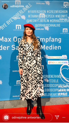 Odine Johne in QR Dress @Berlinale