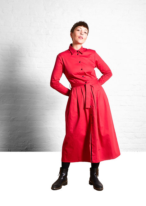 Shirtdress Marie, Red