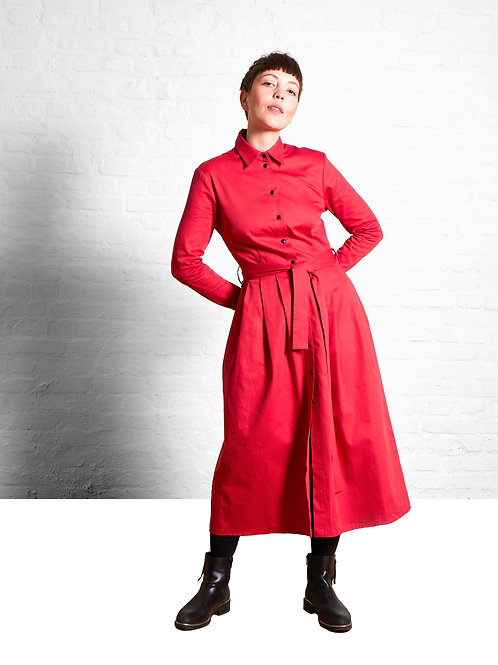 Shirtdress Marie, Red