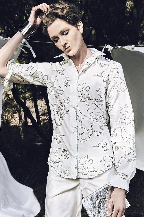 Unisex Shirt Lui, Dove