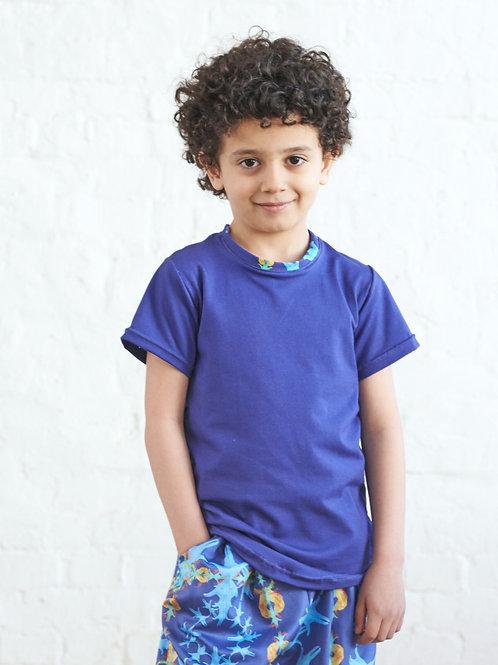 Kids unisex T-shirt, blue