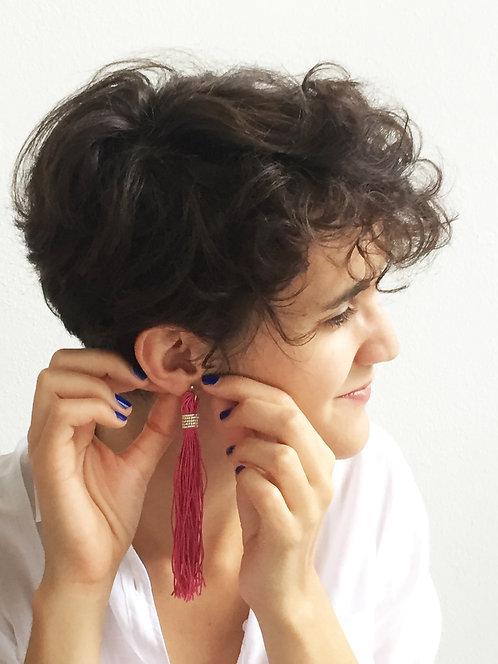Quasten Ohrring / Tassels earring