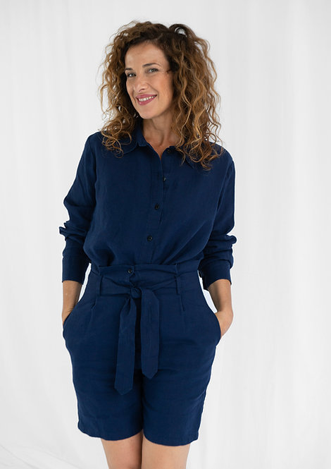 Unisex Shirt Lui, Blau