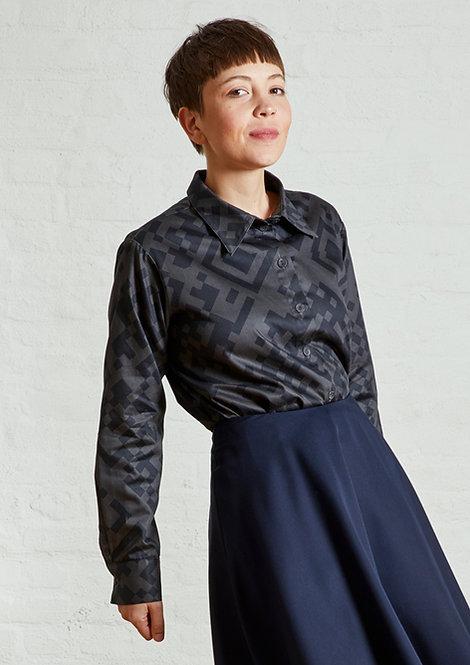 Unisex Shirt Lui, QR Black