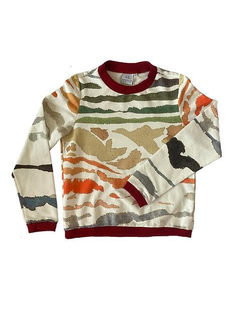 Unisex Sweater Noa, Mare e Monti White