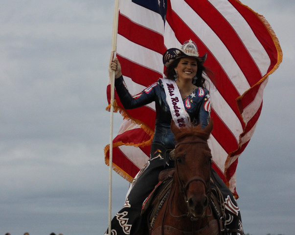 Old Glory and Miss Rodeo USA