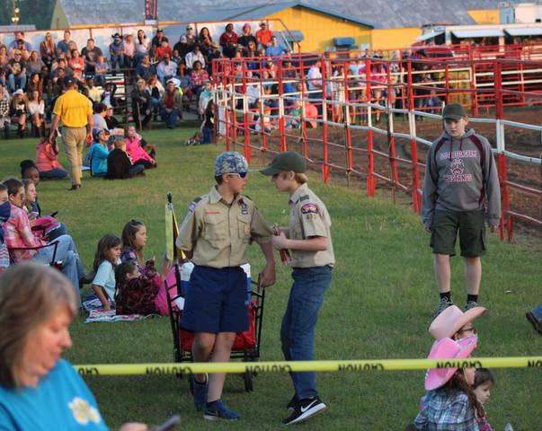 Boy Scouts at the 2018 Statesboro Kiwanis Rodeo