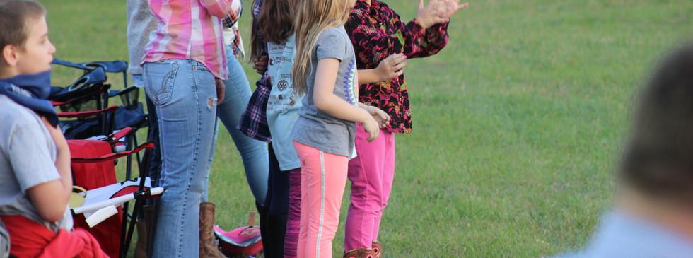 Children at the 2018 Statesboro Kiwanis Rodeo
