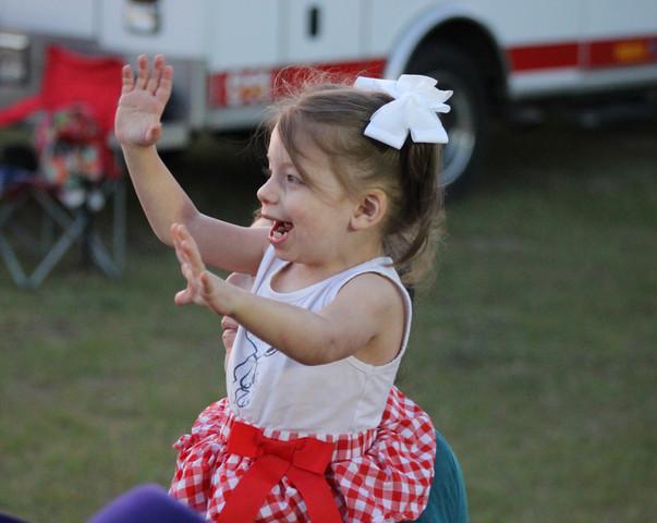 Child at  2018 Statesboro Kiwanis Rodeo