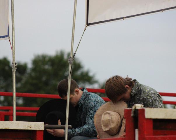 Cowboys during National Anthem
