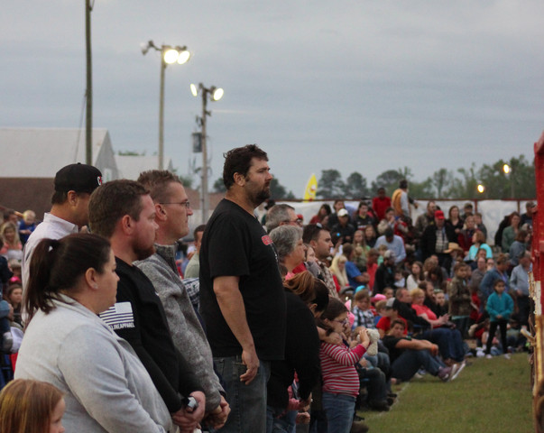 Crowd during National Anthem