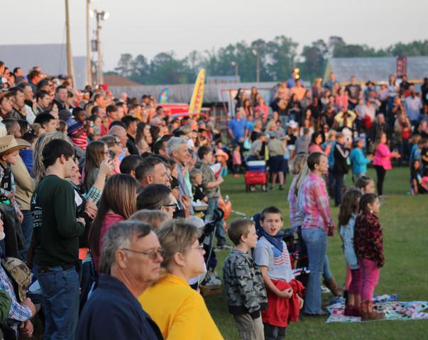 2018 Statesboro Kiwanis Rodeo Crowd