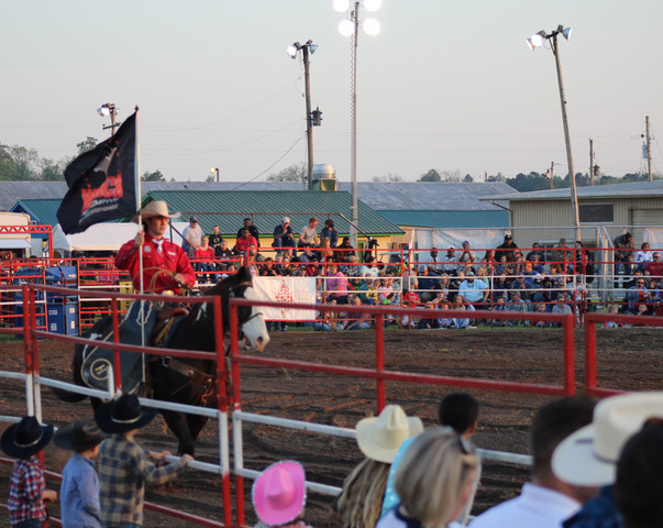 Grand Entry of Hedrick Rodeo