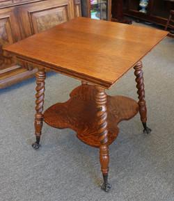 Barley Twist Oak Parlor Table-2