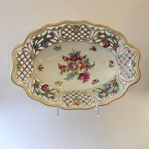 Schumann Bavaria Floral Reticulated Chateau Bowl
