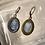 Montana Blue Hand-Pressed Glass Intaglio Earrings