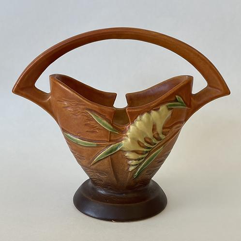 Roseville Pottery Freesia Basket