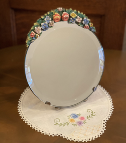 Round Barbola Mirror