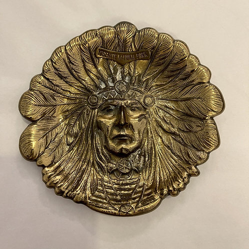 Yosemite National Park Brass Indian Chief Tray