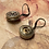 Small Antique Button Earrings