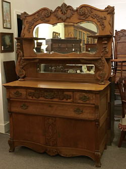 Double Mirror Oak Sideboard