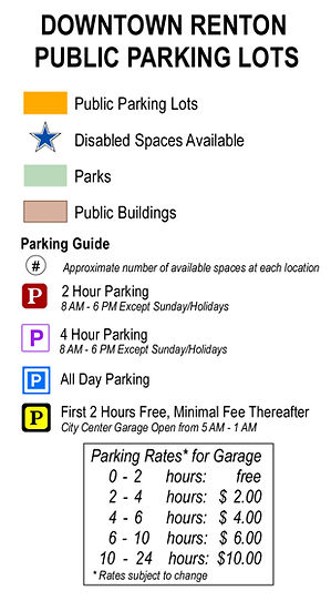 List of Downtown Renton Public Parking Lots