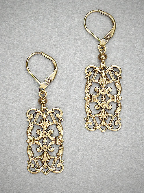 Baroque Dream Dangle Earrings by Grandmother's Buttons