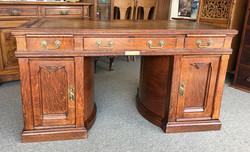 Wooton Oak Rotary Desk