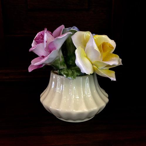 Porcelain Flowers in Vase