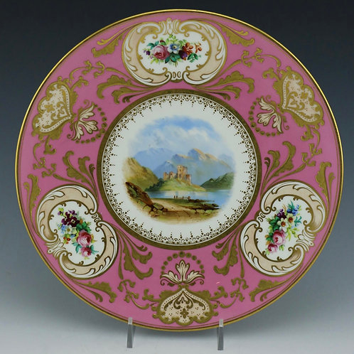 Antique Cabinet Plate Scene of Eilean Donan Castle