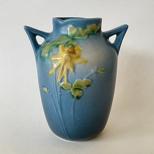Roseville Pottery Blue Columbine Vase