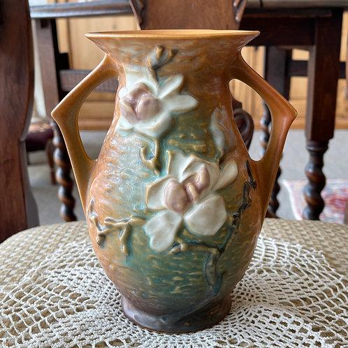 Roseville Magnolia Vase - Brown