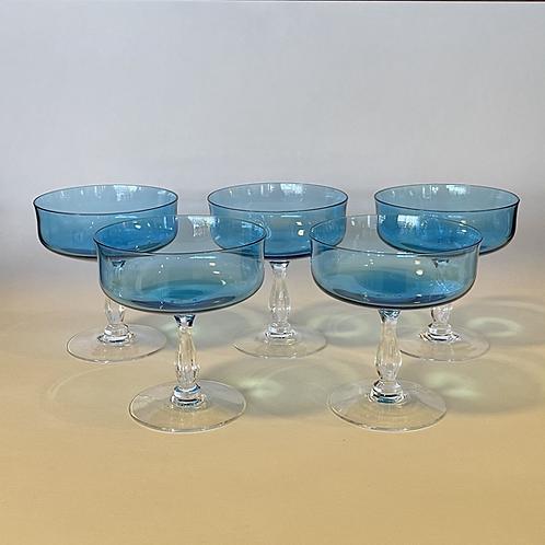 Noritake Rainbow Blue Crystal Stems - Set of 5