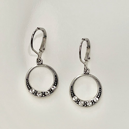 Deco Silver Plated Earrings