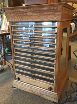 Antique Spool Cabinet