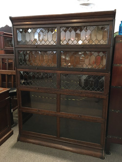 Leaded Glass Lawyers Bookcase